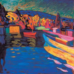 Buy Autumn Landscape with Boats by Wassily Kandinsky