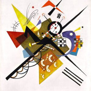 On White II by Wassily Kandinsky Canvas Print
