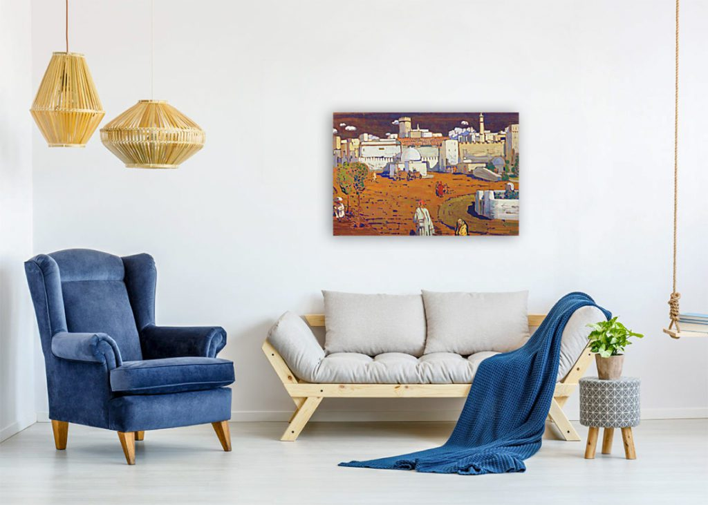 horisontally created painting how to hang
