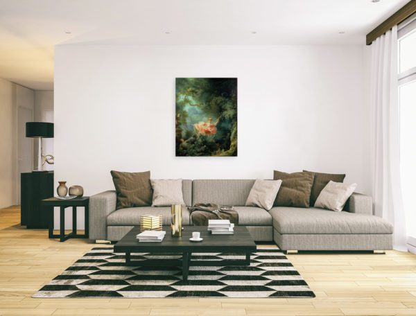 The Swing painting wall art canvas print
