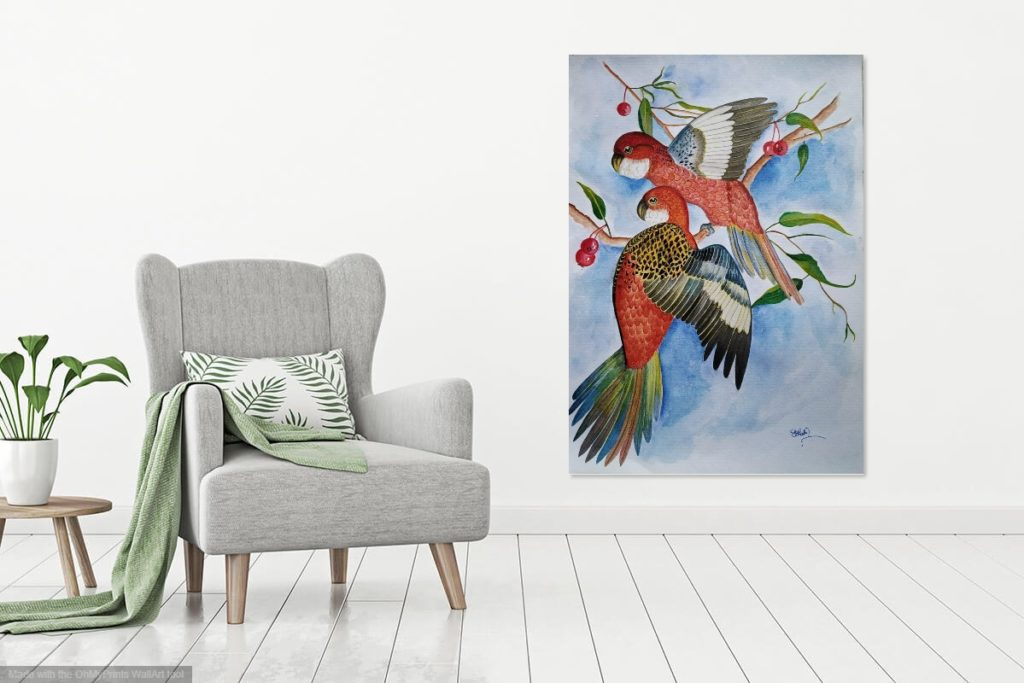 How to choose wall art painting by size