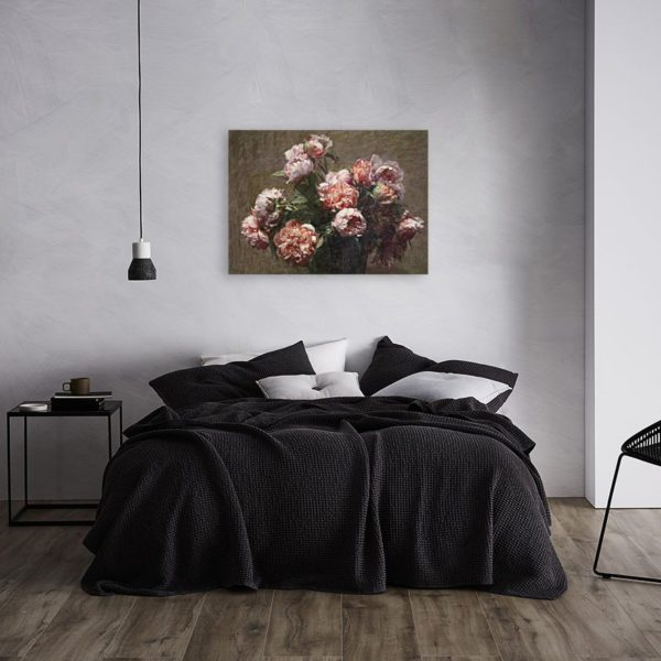 Painting of Peonies By Henri Fantin-Latour Wall Art Canvas Print 5