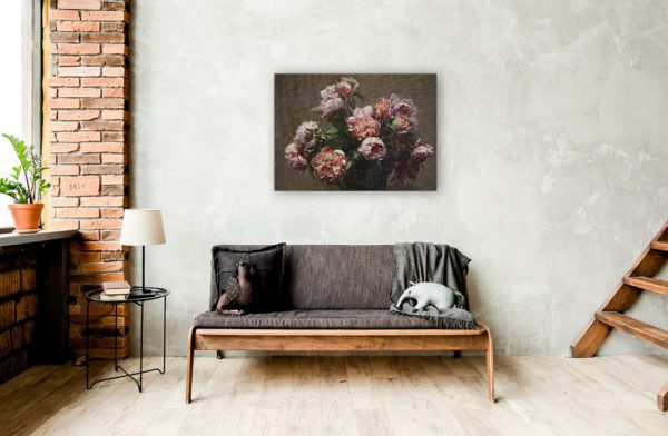 Painting of Peonies By Henri Fantin-Latour Wall Art Canvas Print 2
