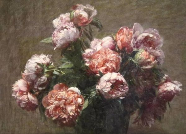 Painting of Peonies By Henri Fantin-Latour Wall Art Canvas Print