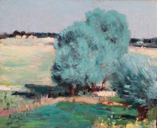 Chiajna Willows Painting By Stefan Luchian