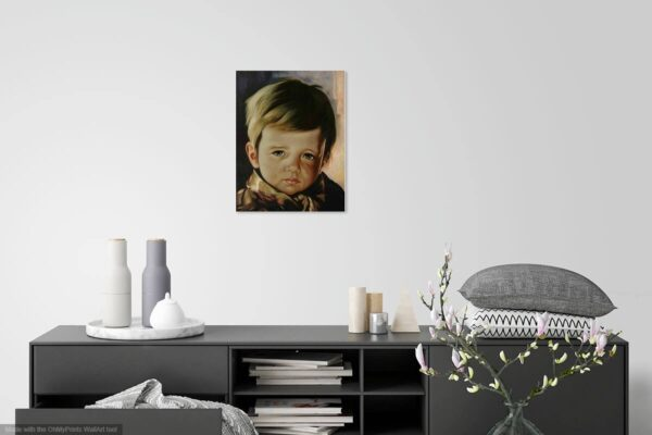 """""""The Crying Boy"""" by Giovanni Bragolin photo of painting"""