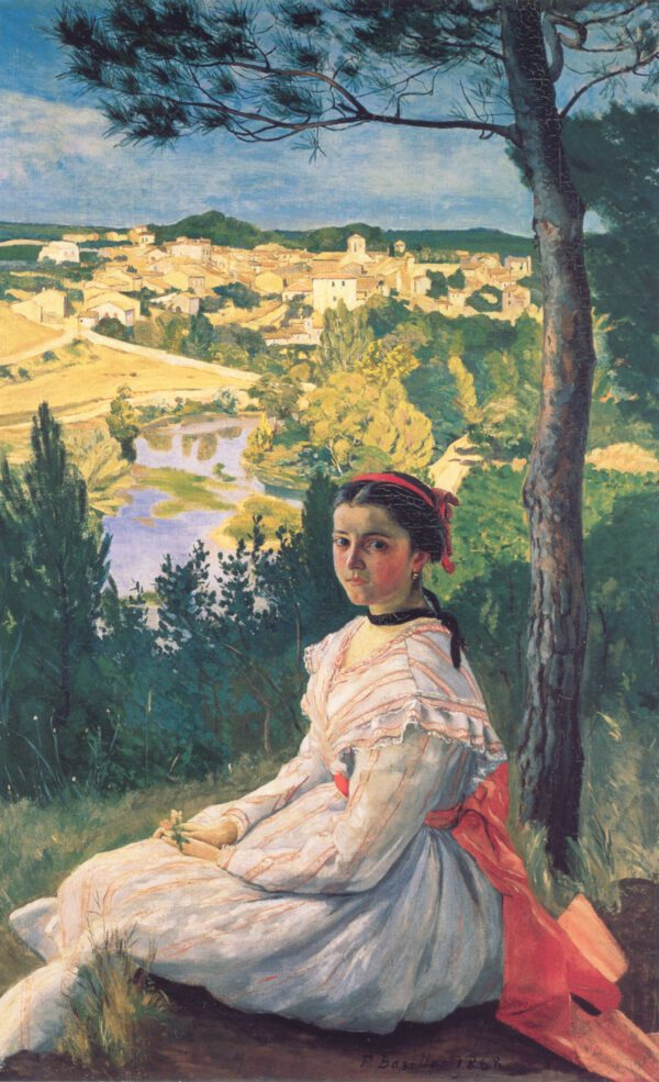 beauty girl and landscape canvas print wall art
