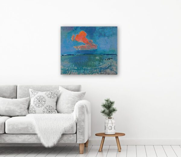 photo The Red Cloud Painting Print By Piet Mondrian