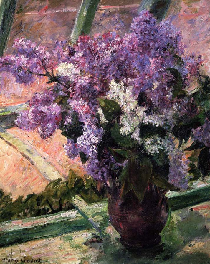 violet flowers still-life painting photo