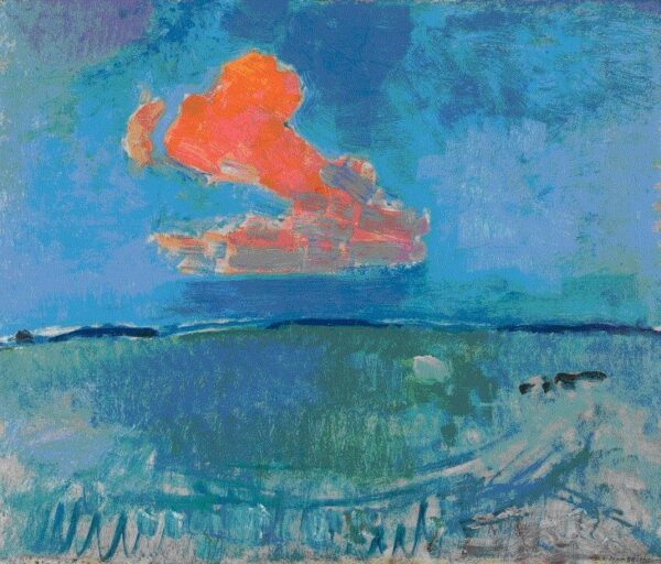 photo of The Red Cloud Painting Print By Piet Mondrian
