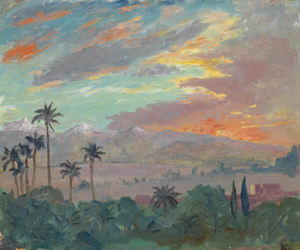 Sunset Over the Atlas Mountains Print by Winston Churchill